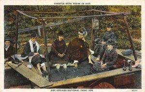 LP34 Hot Springs National Park Arkansas  Fordyce Bath House in 1839  Postcard