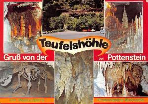Gruss von der Teufelshoehle bei Pottenstein Naturpark Cave Skeleton Animal