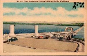 Washington Seattle Lake Washington Pontoon Bridge