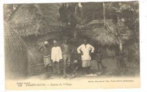 PORTO-NOVO.-Entree du Village (Dahomey) 00-10s