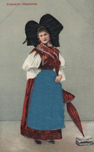 Elisasserin-Alsacienne , France , 00-10s ; Women , Blue & Black Silk inserts