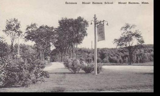 Massachusetts Mount Hermon Entrance Mount Hermon School Albertype