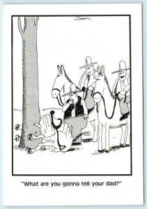 GARY LARSON Comic Artist THE FAR SIDE ~ Horse Accident 1984 ~ 4x6 Postcard