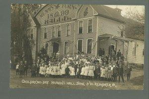 Reinbeck IOWA RP 1910 CHILDRENS DAY Dance Hall MUMM'S TURNER nr Cedar Falls