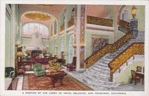 Interior Portion Of The Lobby Of Hotel Bellevue San Francisco California