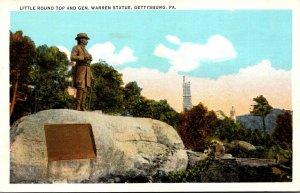 Pennsylvania Gettysburg Little Round Top and General Warren Statue