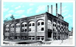 East Palestine, Ohio Postcard CITY WATER AND LIGHT PLANT Building View c1930s