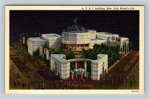1939 New York World's Fair - American Telephone & Telegraph Building Postcard