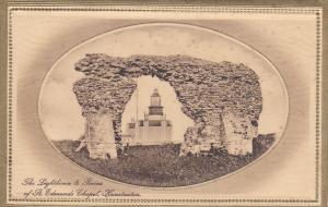 HUNSTANTON , Norfolk , England , 1900-10s  ; Lighthouse & Chapel Ruins ; TUCK
