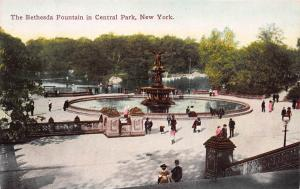 The Bethesda Fountain in Central Park, New York, N.Y., Early Postcard, Unused