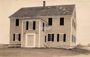 <A15> MAINE Me Real Photo RPPC Postcard c1910 ALMA Oldest Church 1789 Meeting