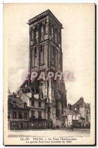 Old Postcard The Charlemagne Tower Tours The southern section collapsed in 1928