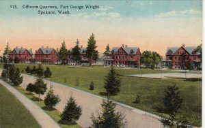 SPOKANE , Washington , 1900-10s ; Officers Quarters, Fort George Wright