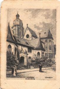 Mannz Stephans Kirche Church Entrance Postcard