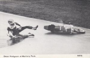 Motorcycle Race spill , Dean Hodgson at Mallory Park , UK , 1987
