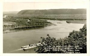 IA - MeGregor. Wyalusing State Park, WI from Pike's Peak State Park  *RPPC