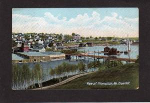 ME Thomaston MAINE City View UDB Postcard PC