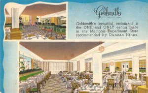 Memphis Tennessee interior views Goldsmith's Dept Store linen antique pc BB2454