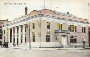 South Bend Indiana~US Post Office~1914 Postcard
