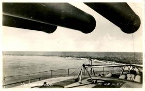 USS New Hampshire, 1916 - The Helm Hard-Over - RPPC