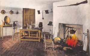CHARLOTTESVILLE VA JAMES MONROE~ASH LAWN~FURNISHED KITCHEN HAND COLORED POSTCARD