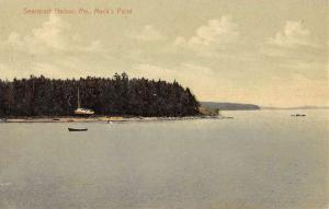 Searsport Harbor Maine Macks Point Waterfront Antique Postcard K81087