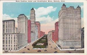 Michigan Detroit Book Cadillac Hotel And Washington Boulevard