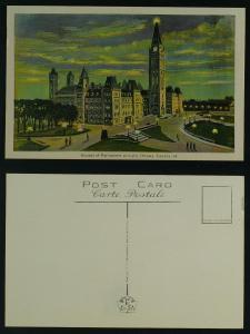 Houses of Parliament at night, Ottawa Ontario