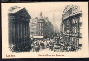 Mansion House and Cheapside,London,England,UK