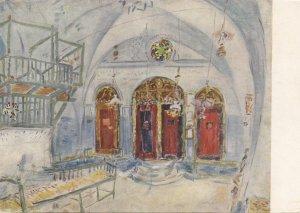 Synagoge-interieur te Jerusalem , Israel , 40-70s