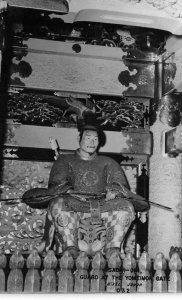 RPPC Sadai-Jin, Guard At The Yomeimon Gate, Nikko, Japan c1950s Vintage Postcard