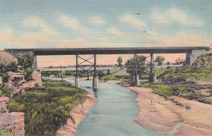 SANTA ROSA, New Mexico, PU-1944; Two Bridges on the Pecos