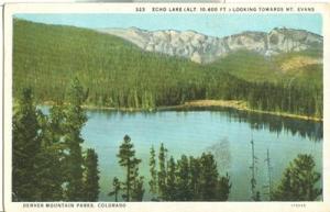 Echo Lake looking Towards Mt. Evans, Denver Mountain Park...