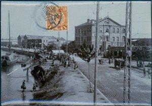 Germany 1913 China TIENTSIN Docks Original Photograph Stamped As Postcard 91360