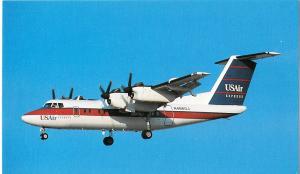 USAir Express, De Havilland DHC-7-102 Dash 7, unused Postcard
