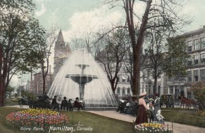 HAMILTON, Ontario, Canada, PU-1912; Gore Park, Fountain