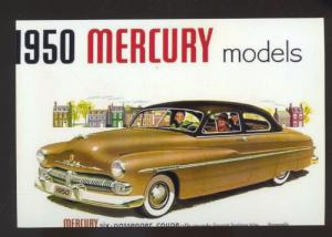 1950 MERCURY LEAD SLED CAR DEALER ADVERTISING POSTCARD '50 MERC