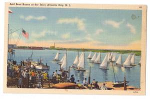 Sailboat Races Atlantic City NJ Tichnor Linen Sail Boat