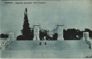 CPA Taranto Ingresso prinicpale Villa Peripato ITALY (805262)