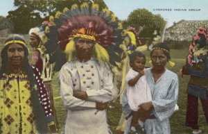 Cherokee Indian Group, 1910-30s