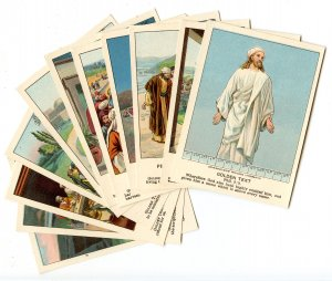 Picture Lesson Cards - Bible Teachings, Set of 13. © 1903