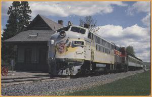 Bangor & Aroostook F3 #502 at Oakfield, Maine - 1994