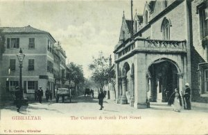 Gibraltar, The Convent & South Port Street (1899) V.B. Cumbo Postcard