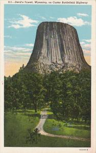 Wyoming Devil's Tower On Custer Battlefield Highway