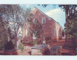 Unused Pre-1980 CHURCH SCENE Ebenezer South Carolina SC G3131
