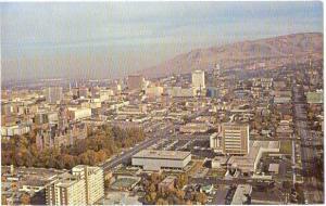 Air View of Salt Lake City Utah UT
