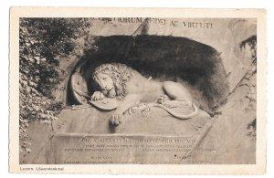 Lowendenkmal Luzern Lion of Lucerne Monument Switzerland Vintage Goetz Postcard