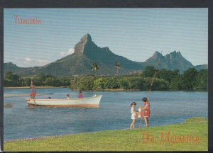 Mauritius Postcard - Tamarin Bay and The Rempart Mountains   T6514