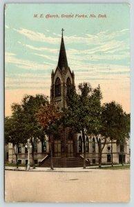 Grand Forks ND~Steeple on Corner of United Methodist Episcopal Church~1915 PC
