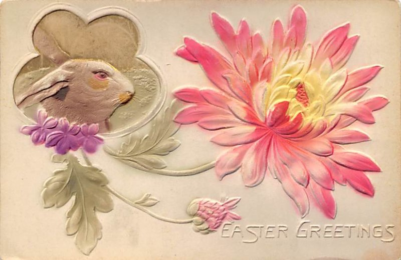 Holiday Easter Post Card Old Vintage Antique Greetings 1910
